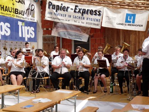 Musikverein Ebelsberg-Pichling beim Frühschoppen des MV Allhaming