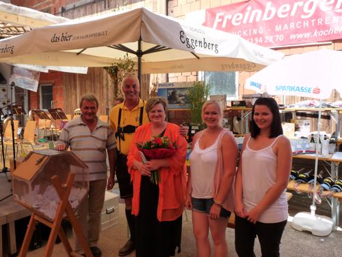 Familie Thell mit MV Obmann Karl Adlesgruber