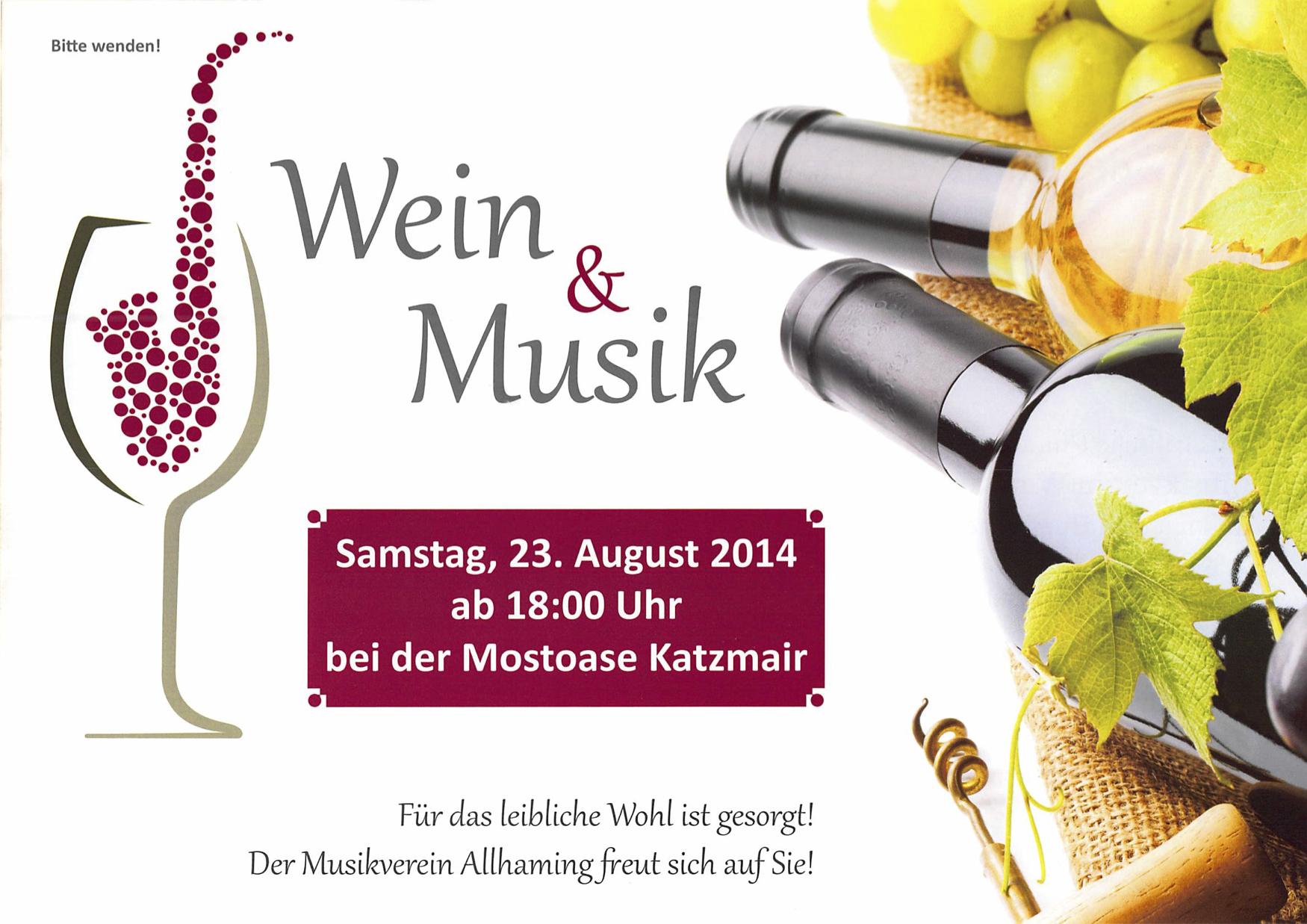 Einladung Weinfest - Musikverein AllhamingMusikverein ...