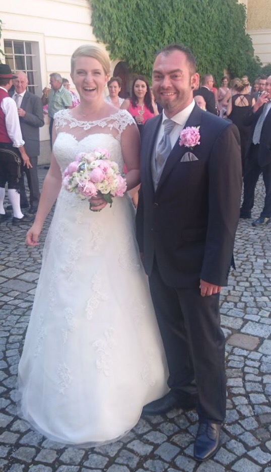 Claudia und Mario bei der Agape