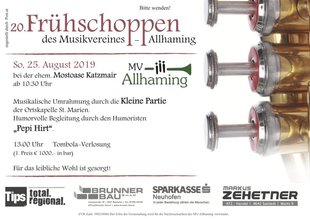 20. Frühschoppen des Musikvereines Allhaming